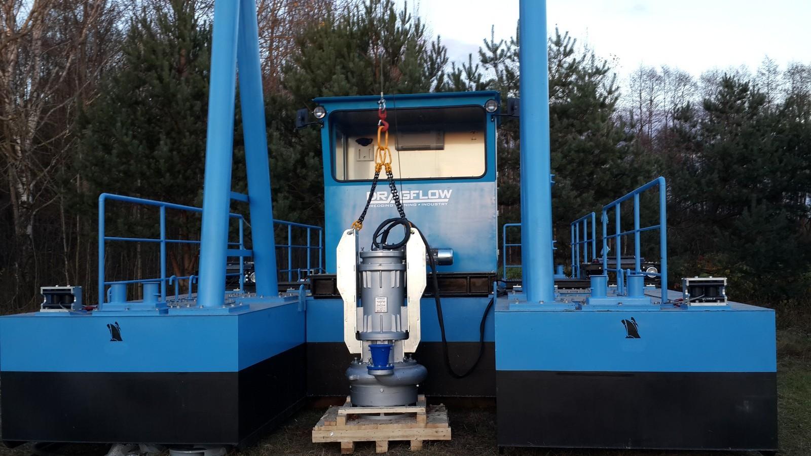 Электрический мобильный земснаряд с насосом EL 1204ННВ
