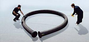 Напорный трубопровод с увеличенным углом изгиба