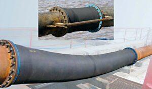 Трубопровод со сферическим фланцем в работе